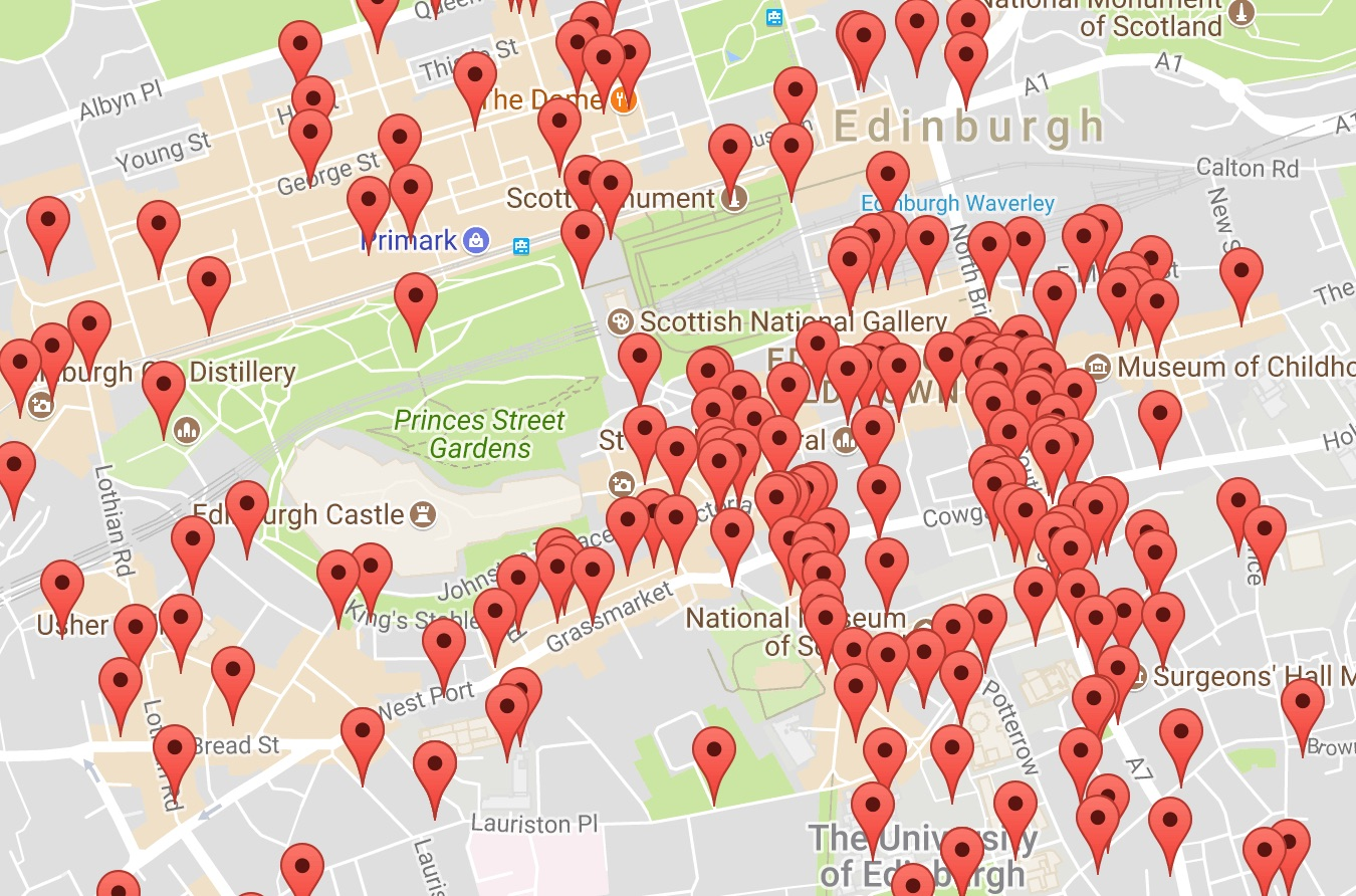 Edinburgh Fringe Locations