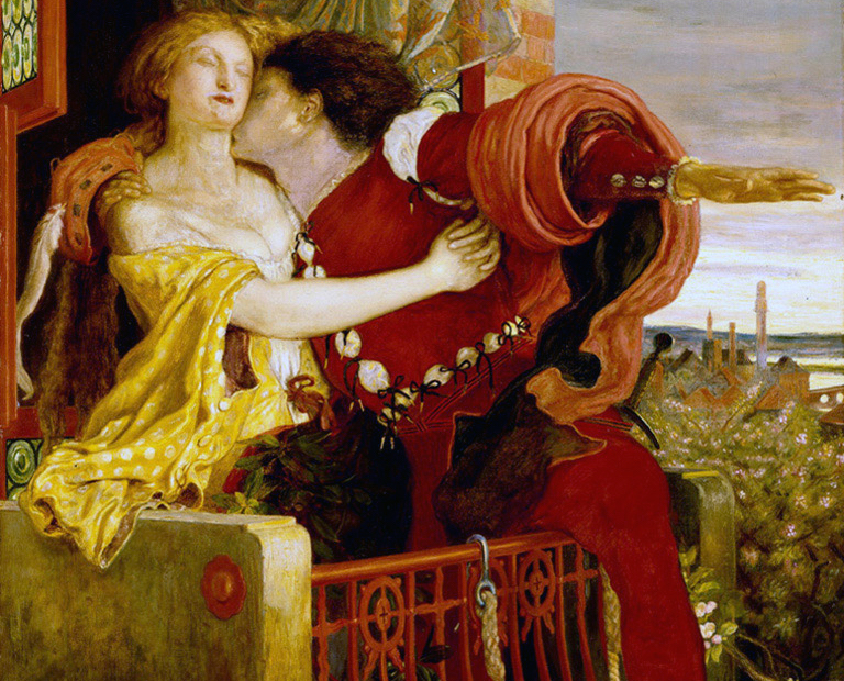 Romeo & Juliet by Ford Madox Brown, 1867